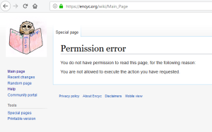 encyc main page down screenshot