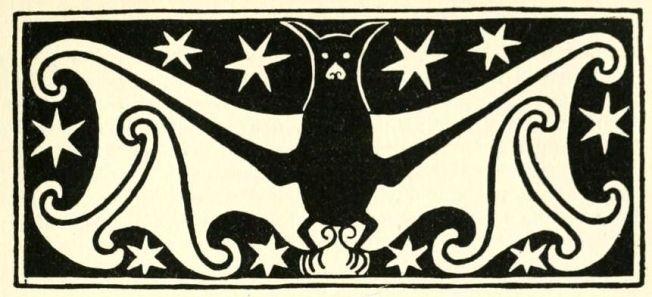 art nouveau bat outline 1